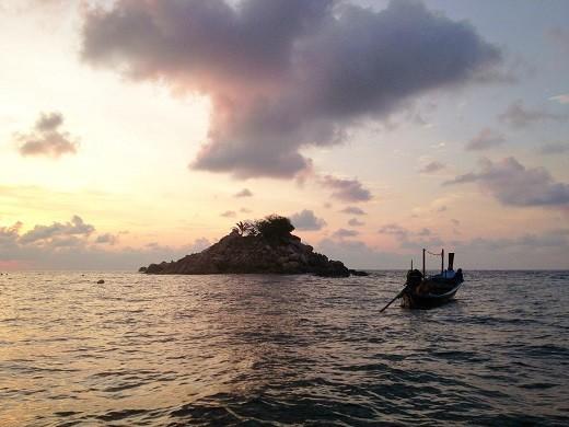普吉岛旅游攻略之长尾船日落